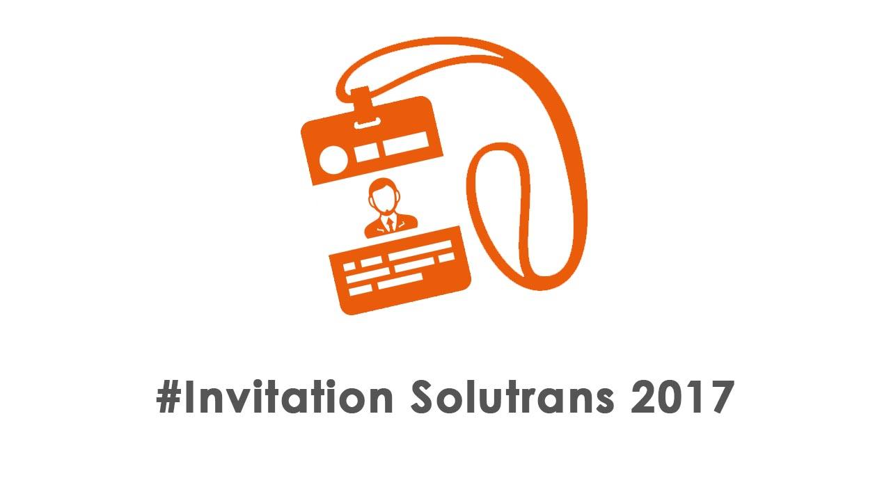 Invitation au salon Solutrans 2017